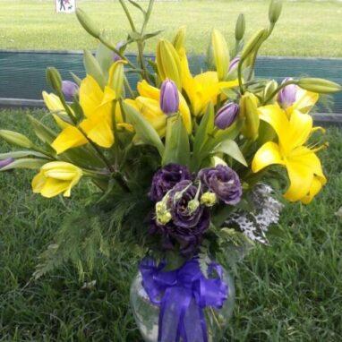 Arreglo floral con lilis
