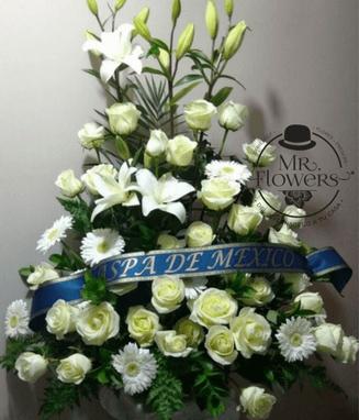 Arreglos Fúnebre Alto Blanco