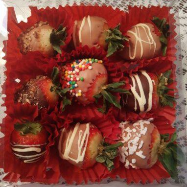 Fresas con Chocolate en Caja
