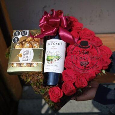 Rosas Chocolates y Tinto