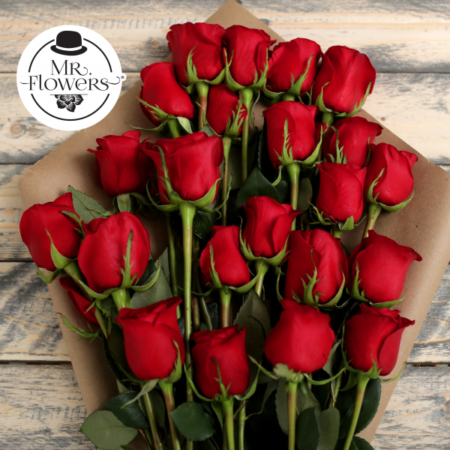 Ramo de 24 Rosas Rojas - Florería a Domicilio - Floreria.info