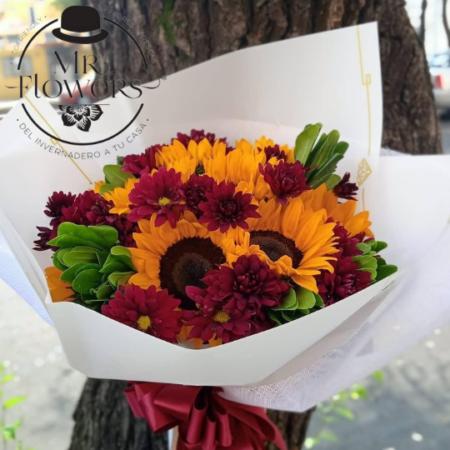 Bouquet de Girasoles y Margaritas