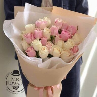 Ramo de 24 Rosas Pastel